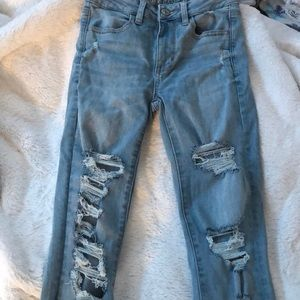 American Eagle Next Level Stretch Ripped Jeans